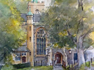 David Penny - All Saints - Watercolour - 13.5