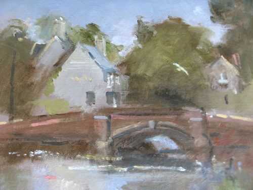 John Powley - West Across the Pond, Carshalton - 10x12 - £275 unframed