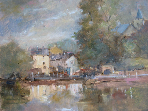 John Powley - East Across the Pond, Carshalton - Oil - 10x12 - £275 unframed