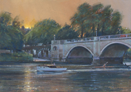 Dusk, Richmond Bridge 10x14 - £SOLD