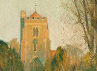 Early Evening, St Marys, Beddington 8x6 - £525