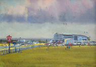 Heading to the Races,Epsom 10x14 - £625