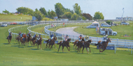 Runners at The Oaks,Epsom 6x12 - £SOLD