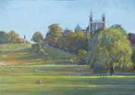 Summer Afternoon, Greenwich 10x14 - £650