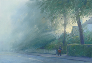The Morning Post, Stanley Park Road 7x10 - £SOLD
