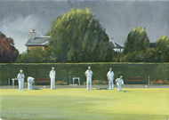 Afternoon Bowls, Wallington 7x10 - £550
