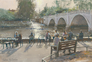 Afternoon by the River, Richmond 7x10 - £SOLD