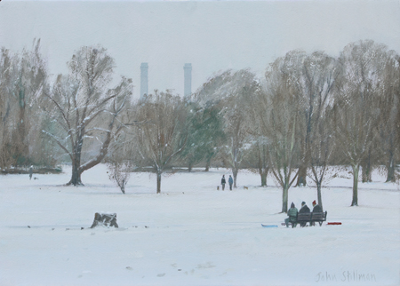 Distant 'Ikea' from Beddington Park 10x14 - £625