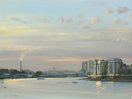 Evening on the Thames 12x16 - SOLD