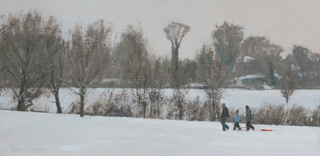 First Snow, Oaks Park 8x16 - £SOLD