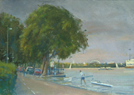 High Tide, Putney 7x10 - £SOLD