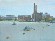 Lots Road Power Station, Chelsea 6x8 - £SOLD