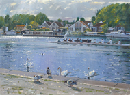 River Life, Walton-On-Thames 12x16 - £SOLD