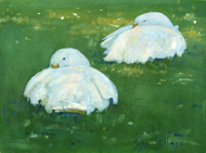 Sleepy Ducks 6x8 - £SOLD