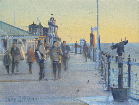 Starlings, Brighton Pier 6x8 - £525