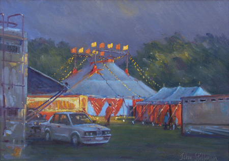 Sunlight and Stormy Skies, Zippos Circus 10x14 - £625
