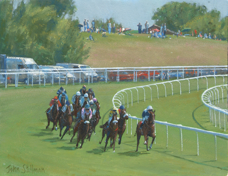 Tatthenham Corner, Epsom Downs 8x10 - £SOLD