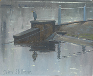 The Heron, Carshalton Ponds 5x6 - £SOLD