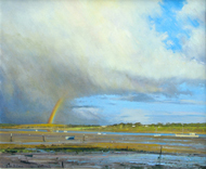 The Rainbow, Pin Mill 20x24 - £1100