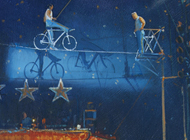 The High Wire, Zippos Circus 8x6 - SOLD