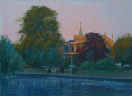 Warm Light, All Saints Church, Carshalton 6x8 - SOLD
